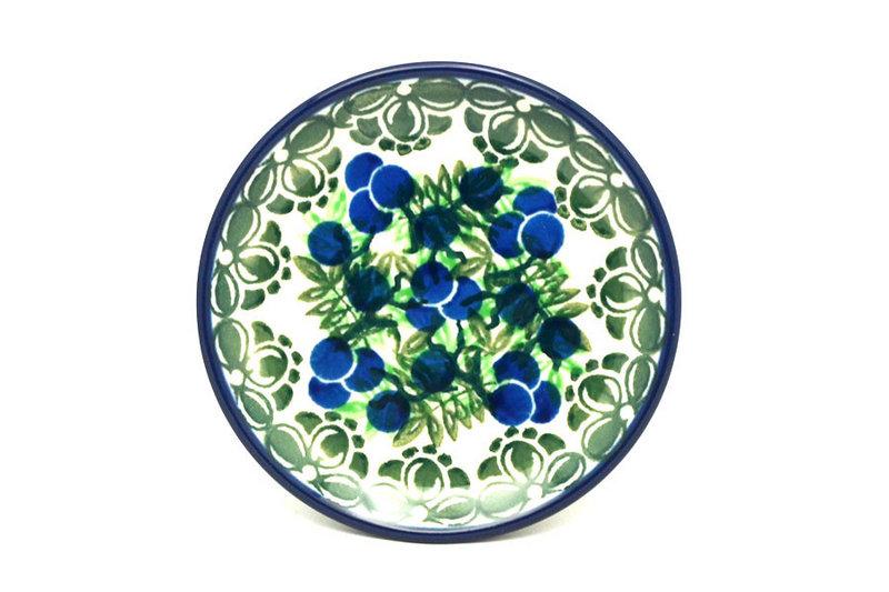 Polish Pottery Coaster - Huckleberry