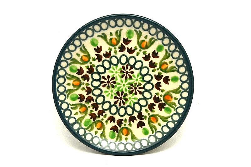 Ceramika Artystyczna Polish Pottery Coaster - Mint Chip 262-2195q (Ceramika Artystyczna)