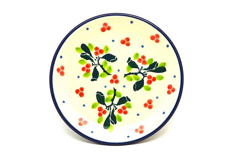 Ceramika Artystyczna Polish Pottery Coaster - Mistletoe 262-2390a (Ceramika Artystyczna)