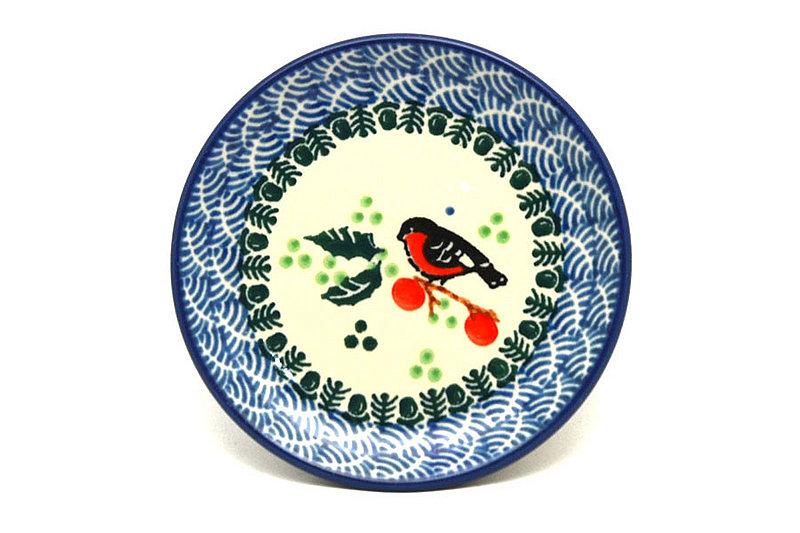 Ceramika Artystyczna Polish Pottery Coaster - Red Robin 262-1257a (Ceramika Artystyczna)
