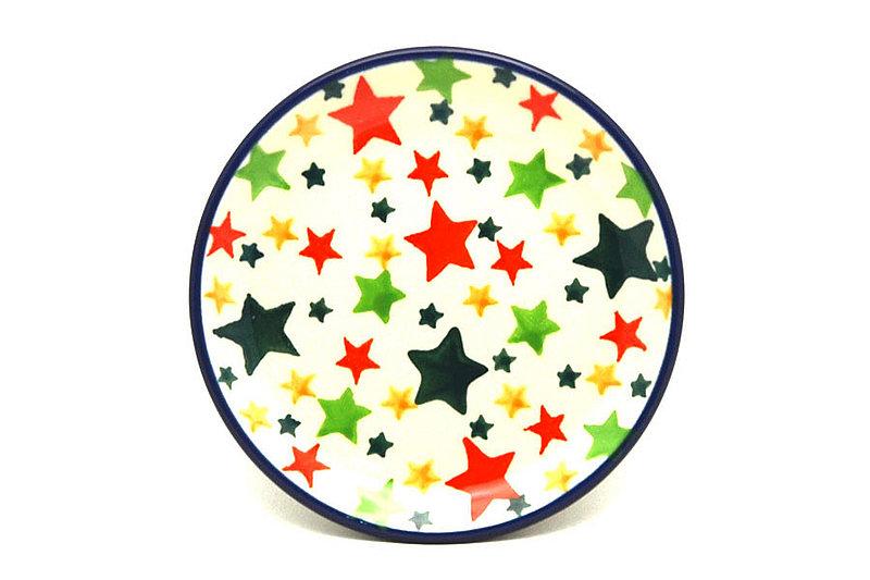 Ceramika Artystyczna Polish Pottery Coaster - Star Studded 262-2258a (Ceramika Artystyczna)