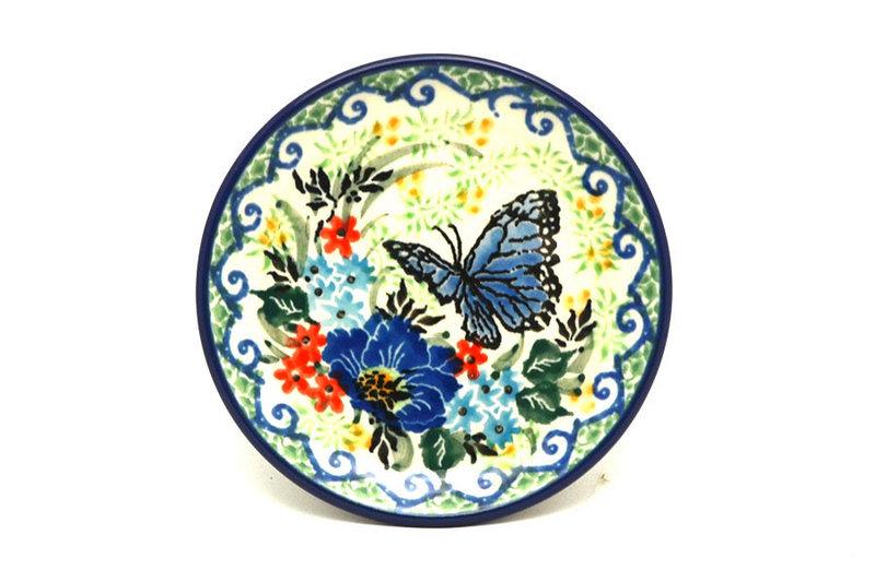 Ceramika Artystyczna Polish Pottery Coaster - Unikat Signature - U4600 262-U4600 (Ceramika Artystyczna)