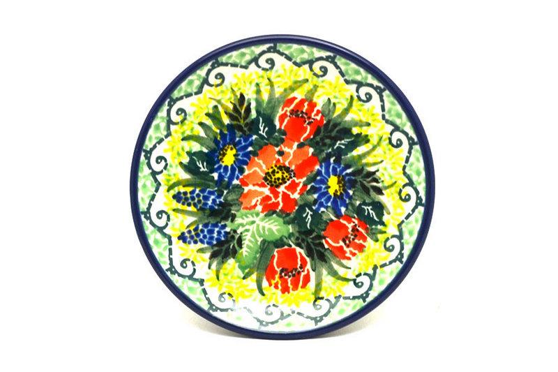 Ceramika Artystyczna Polish Pottery Coaster - Unikat Signature - U4610 262-U4610 (Ceramika Artystyczna)
