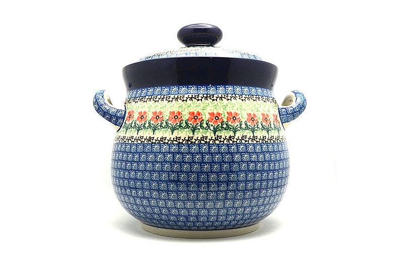Polish Pottery Cookie Jar - 14 cups - Maraschino