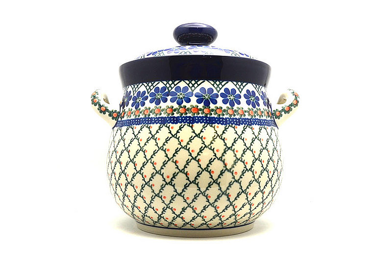 Polish Pottery Cookie Jar - 14 cups - Primrose