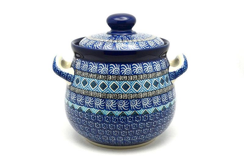 Ceramika Artystyczna Polish Pottery Cookie Jar - 7 cups - Aztec Sky 172-1917a (Ceramika Artystyczna)