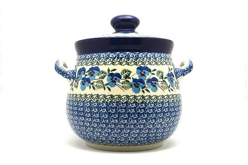 Ceramika Artystyczna Polish Pottery Cookie Jar - 7 cups- Winter Viola 172-2273a (Ceramika Artystyczna)