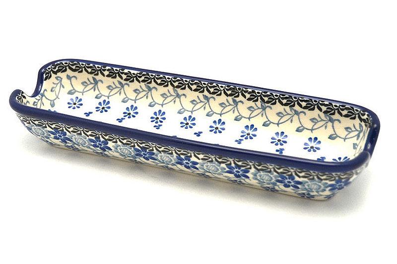 Ceramika Artystyczna Polish Pottery Corn Holder - Silver Lace 397-2158a (Ceramika Artystyczna)