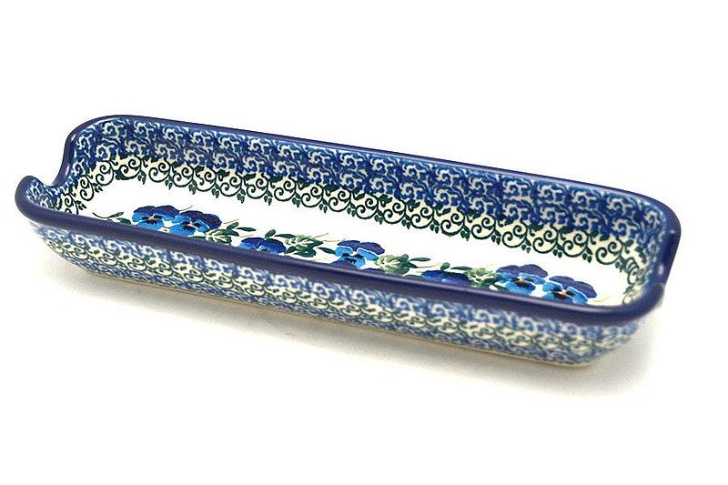 Ceramika Artystyczna Polish Pottery Corn Holder - Winter Viola 397-2273a (Ceramika Artystyczna)