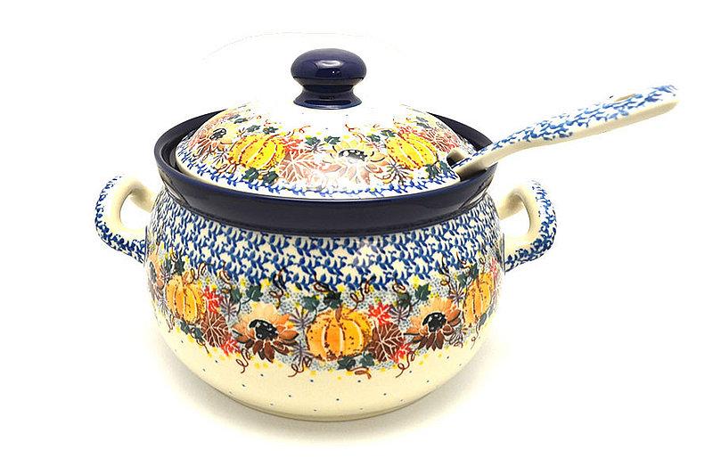 Ceramika Artystyczna Polish Pottery Covered Tureen and Ladle Set - Unikat Signature - U4741 S19-U4741 (Ceramika Artystyczna)