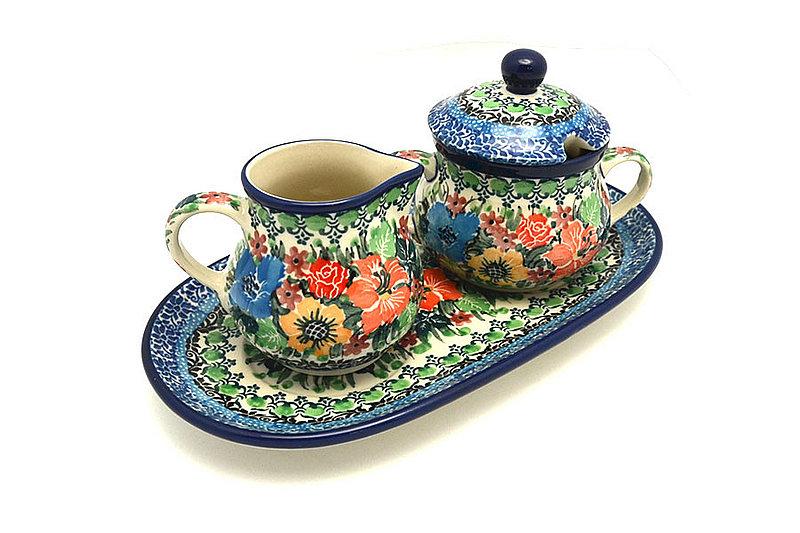 Ceramika Artystyczna Polish Pottery Cream & Sugar Set - Unikat Signature U3347 422-U3347 (Ceramika Artystyczna)