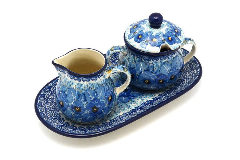 Ceramika Artystyczna Polish Pottery Cream & Sugar Set - Unikat Signature - U3639 422-U3639 (Ceramika Artystyczna)