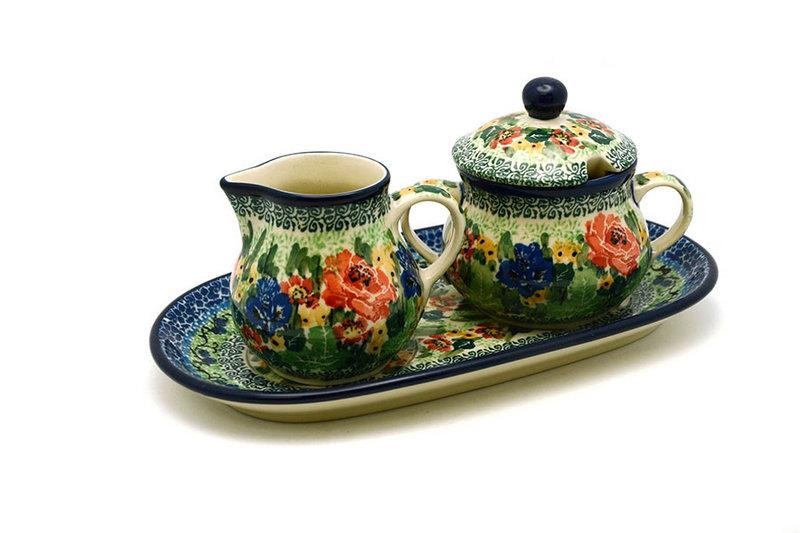 Ceramika Artystyczna Polish Pottery Cream & Sugar Set - Unikat Signature - U4400 422-U4400 (Ceramika Artystyczna)