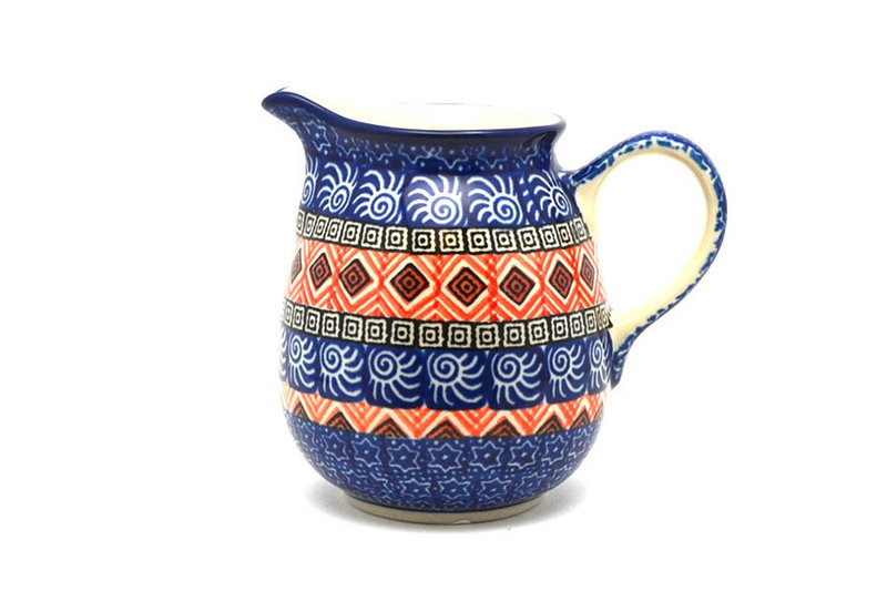 Ceramika Artystyczna Polish Pottery Creamer - 10 oz. - Aztec Sun B84-1350a (Ceramika Artystyczna)