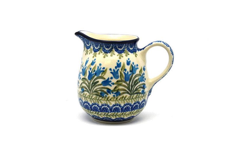Ceramika Artystyczna Polish Pottery Creamer - 10 oz. - Blue Bells B84-1432a (Ceramika Artystyczna)