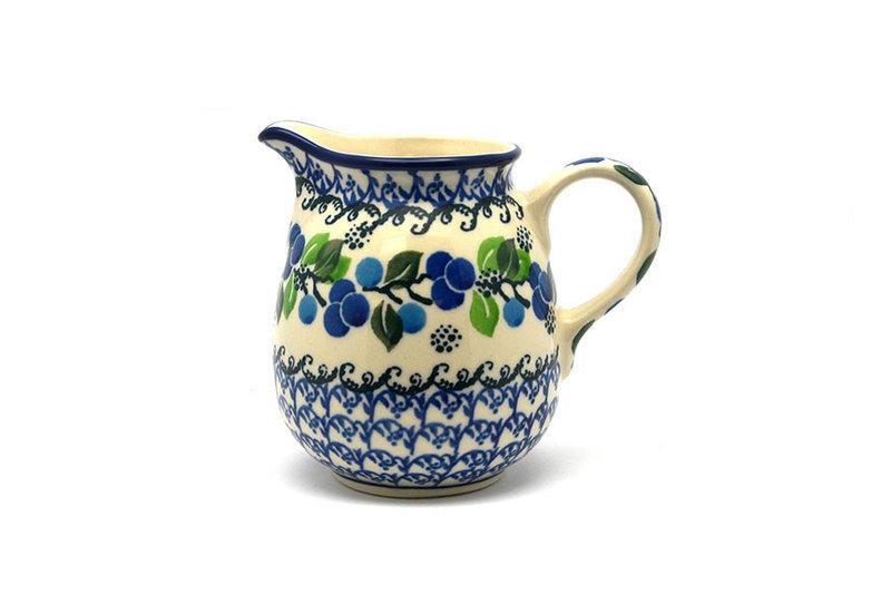 Ceramika Artystyczna Polish Pottery Creamer - 10 oz. - Blue Berries B84-1416a (Ceramika Artystyczna)