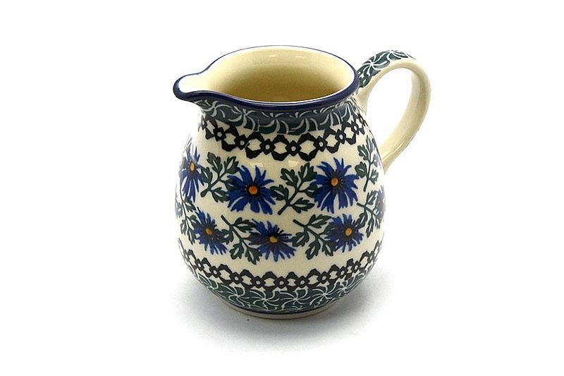 Ceramika Artystyczna Polish Pottery Creamer - 10 oz. - Blue Chicory B84-976a (Ceramika Artystyczna)