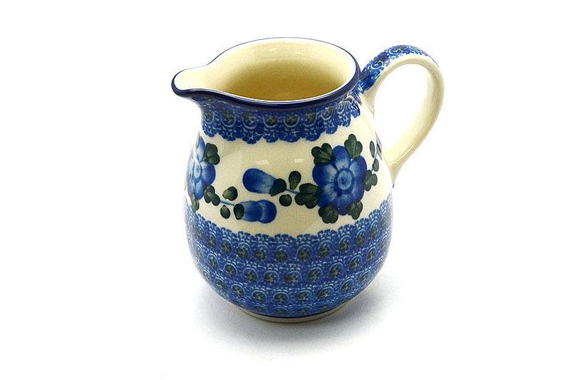 Ceramika Artystyczna Polish Pottery Creamer - 10 oz. - Blue Poppy B84-163a (Ceramika Artystyczna)