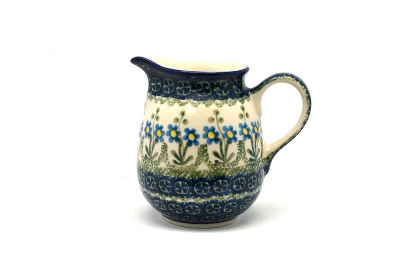 Ceramika Artystyczna Polish Pottery Creamer - 10 oz. - Blue Spring Daisy B84-614a (Ceramika Artystyczna)