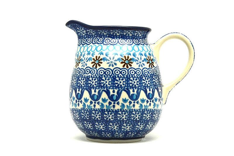 Ceramika Artystyczna Polish Pottery Creamer - 10 oz. - Blue Yonder B84-2187a (Ceramika Artystyczna)