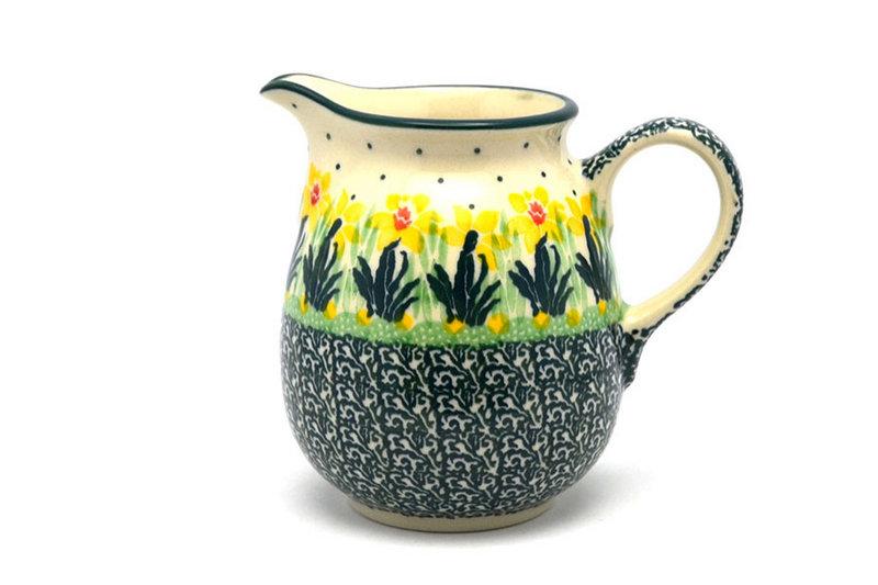 Ceramika Artystyczna Polish Pottery Creamer - 10 oz. - Daffodil B84-2122q (Ceramika Artystyczna)