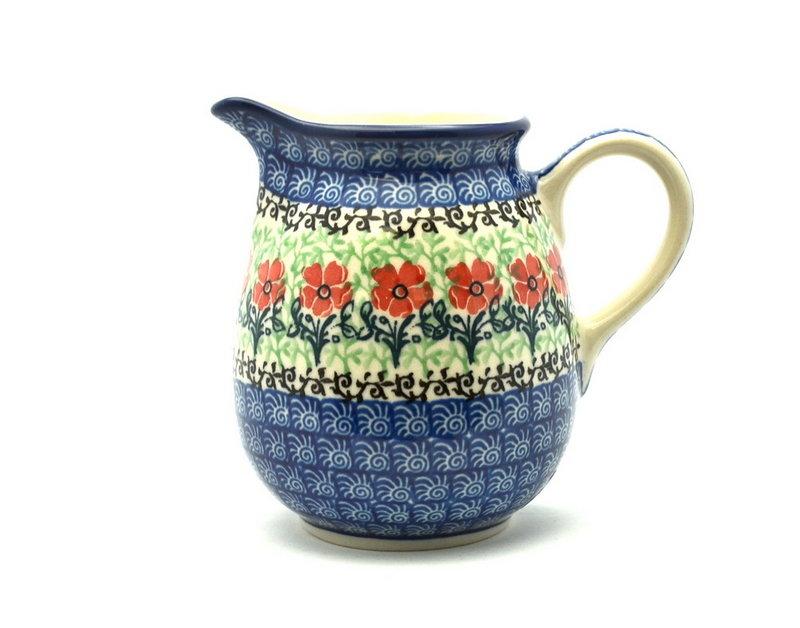 Ceramika Artystyczna Polish Pottery Creamer - 10 oz. - Maraschino B84-1916a (Ceramika Artystyczna)