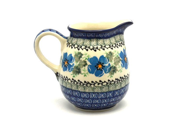 Ceramika Artystyczna Polish Pottery Creamer - 10 oz. - Morning Glory B84-1915a (Ceramika Artystyczna)