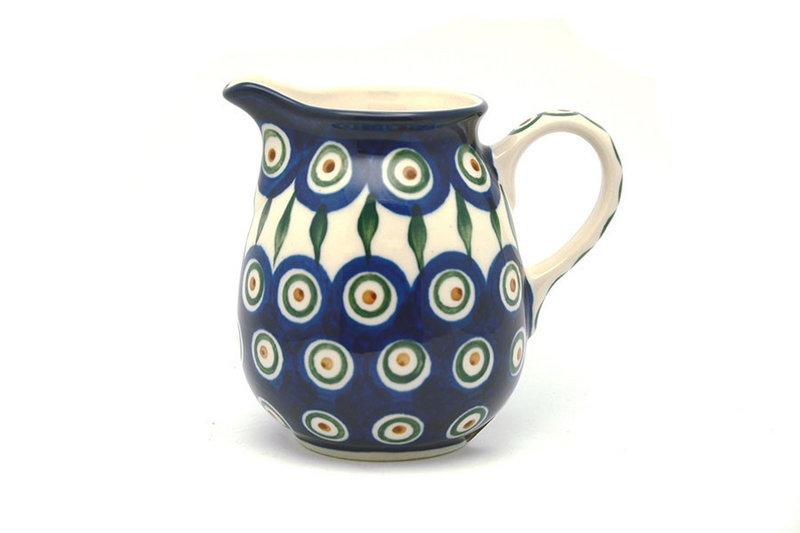 Ceramika Artystyczna Polish Pottery Creamer - 10 oz. - Peacock B84-054a (Ceramika Artystyczna)