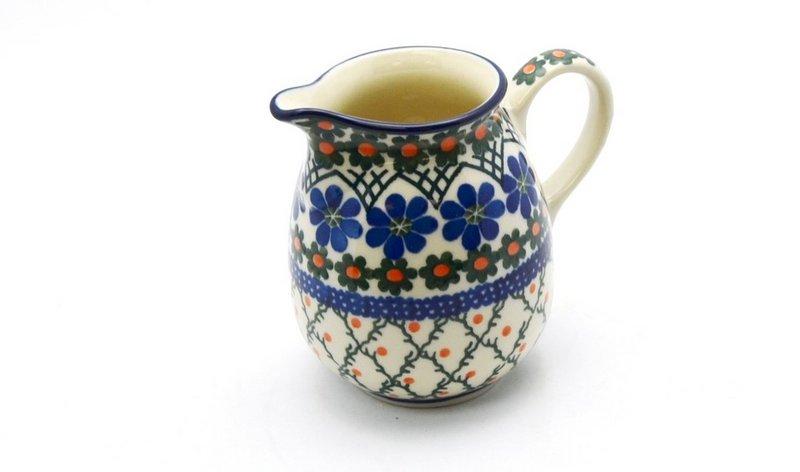 Ceramika Artystyczna Polish Pottery Creamer - 10 oz. - Primrose B84-854a (Ceramika Artystyczna)