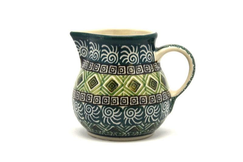 Ceramika Artystyczna Polish Pottery Creamer - 4 oz. - Aztec Forest 091-1919q (Ceramika Artystyczna)