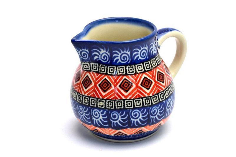 Ceramika Artystyczna Polish Pottery Creamer - 4 oz. - Aztec Sun 091-1350a (Ceramika Artystyczna)