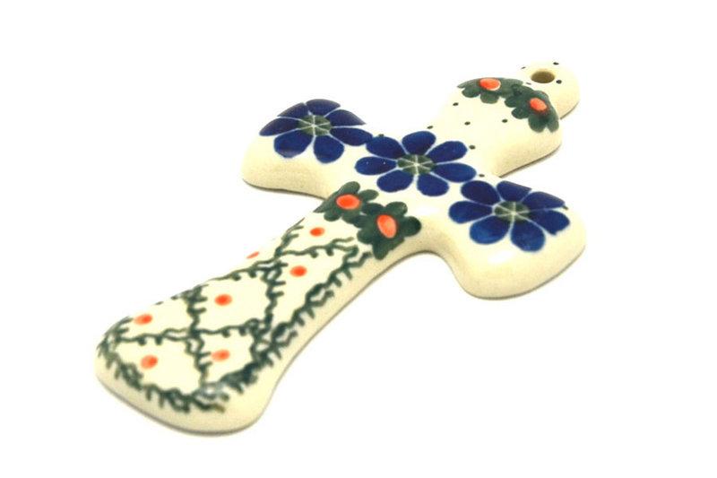 "Polish Pottery Cross - Small (5"") - Primrose"