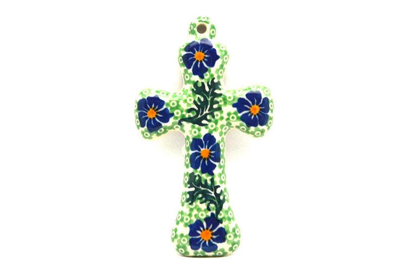 """Ceramika Artystyczna Polish Pottery Cross - Small (5"""") - Sweet Violet 613-1538a (Ceramika Artystyczna)"""