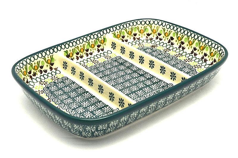 Ceramika Artystyczna Polish Pottery Dish - Divided Rectangular - Mint Chip 393-2195q (Ceramika Artystyczna)