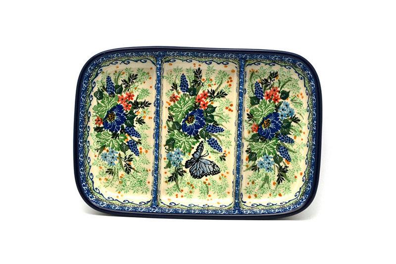 Ceramika Artystyczna Polish Pottery Dish - Divided Rectangular - Unikat Signature U4600 393-U4600 (Ceramika Artystyczna)