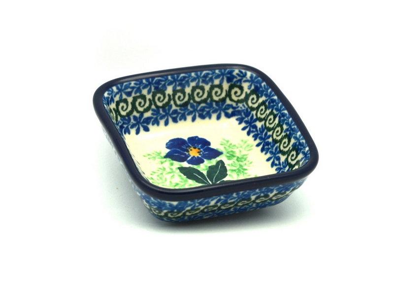 Ceramika Artystyczna Polish Pottery Dish - Food Prep - Blue Pansy 656-1552a (Ceramika Artystyczna)