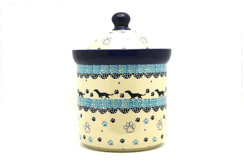 Ceramika Artystyczna Polish Pottery Dog Treat Canister - 2 cups - Diggity Dog 495-2152a (Ceramika Artystyczna)