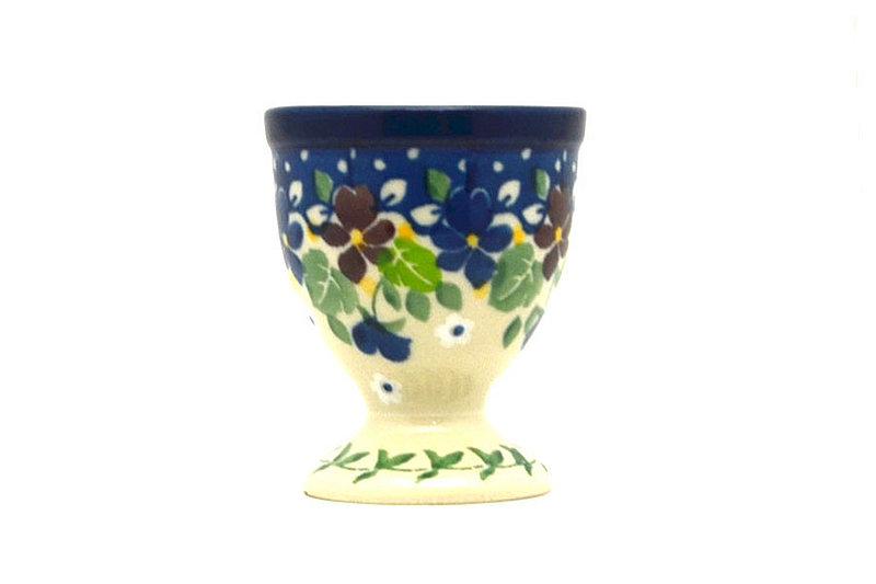 Ceramika Artystyczna Polish Pottery Egg Cup - Plum Luck 106-2509a (Ceramika Artystyczna)