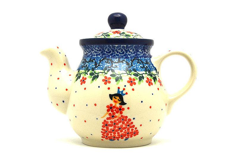 Ceramika Artystyczna Polish Pottery Gooseneck Teapot - 10 oz. - Crown Princess 020-2286a (Ceramika Artystyczna)
