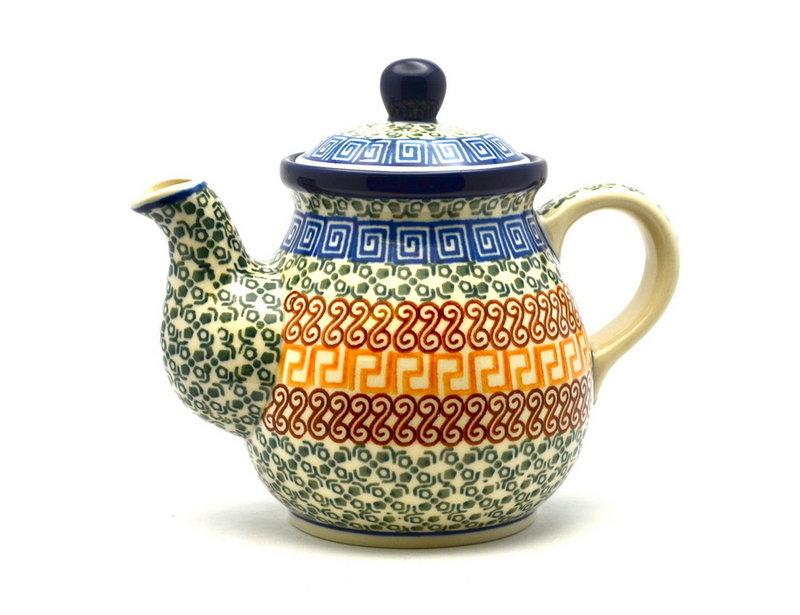 Ceramika Artystyczna Polish Pottery Gooseneck Teapot - 20 oz. - Autumn 119-050a (Ceramika Artystyczna)