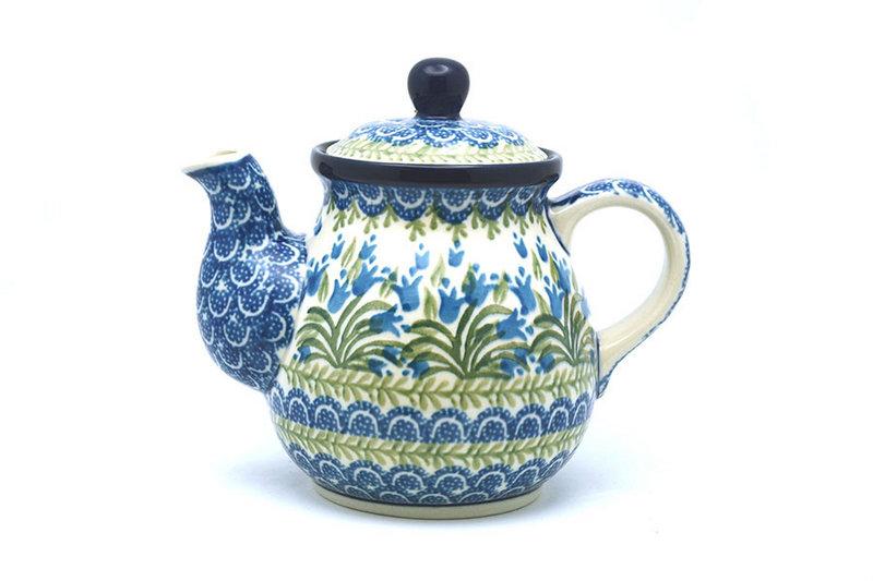 Ceramika Artystyczna Polish Pottery Gooseneck Teapot - 20 oz. - Blue Bells 119-1432a (Ceramika Artystyczna)