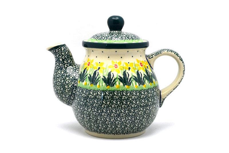 Ceramika Artystyczna Polish Pottery Gooseneck Teapot - 20 oz. - Daffodil 119-2122q (Ceramika Artystyczna)