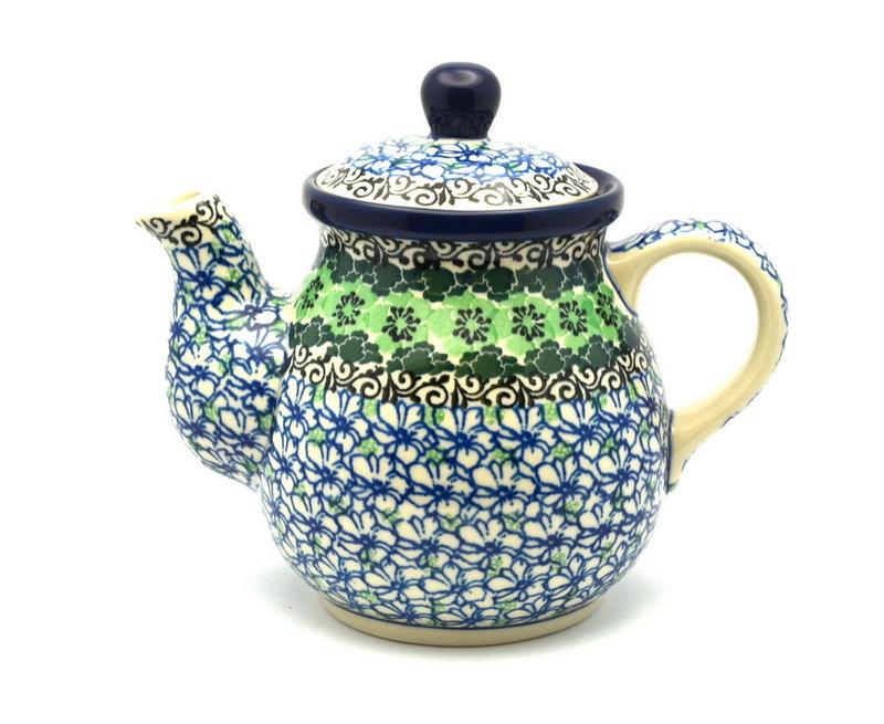 Ceramika Artystyczna Polish Pottery Gooseneck Teapot - 20 oz. - Kiwi 119-1479a (Ceramika Artystyczna)