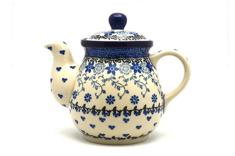 Ceramika Artystyczna Polish Pottery Gooseneck Teapot - 20 oz. - Silver Lace 119-2158a (Ceramika Artystyczna)
