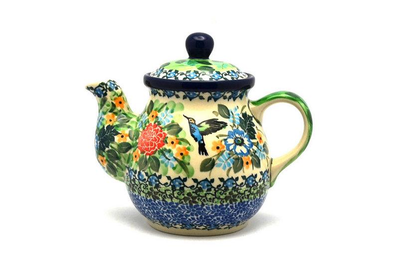 Ceramika Artystyczna Polish Pottery Gooseneck Teapot - 20 oz. - Unikat Signature - U3271 119-U3271 (Ceramika Artystyczna)