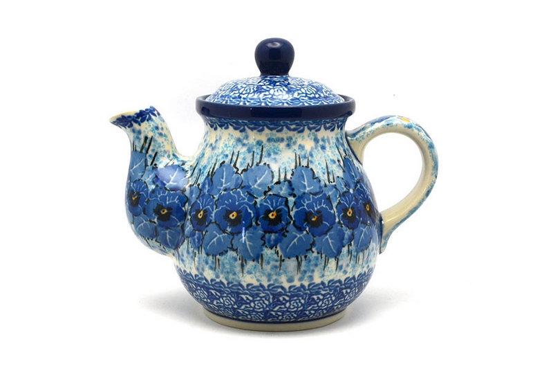 Ceramika Artystyczna Polish Pottery Gooseneck Teapot - 20 oz. - Unikat Signature - U3639 119-U3639 (Ceramika Artystyczna)