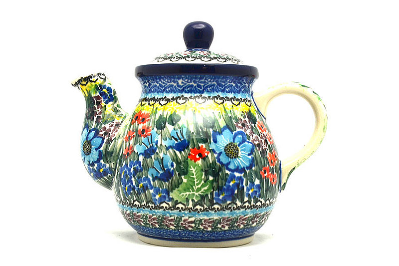 Ceramika Artystyczna Polish Pottery Gooseneck Teapot - 20 oz. - Unikat Signature - U4558 119-U4558 (Ceramika Artystyczna)