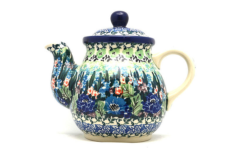Ceramika Artystyczna Polish Pottery Gooseneck Teapot - 20 oz. - Unikat Signature - U4572 119-U4572 (Ceramika Artystyczna)