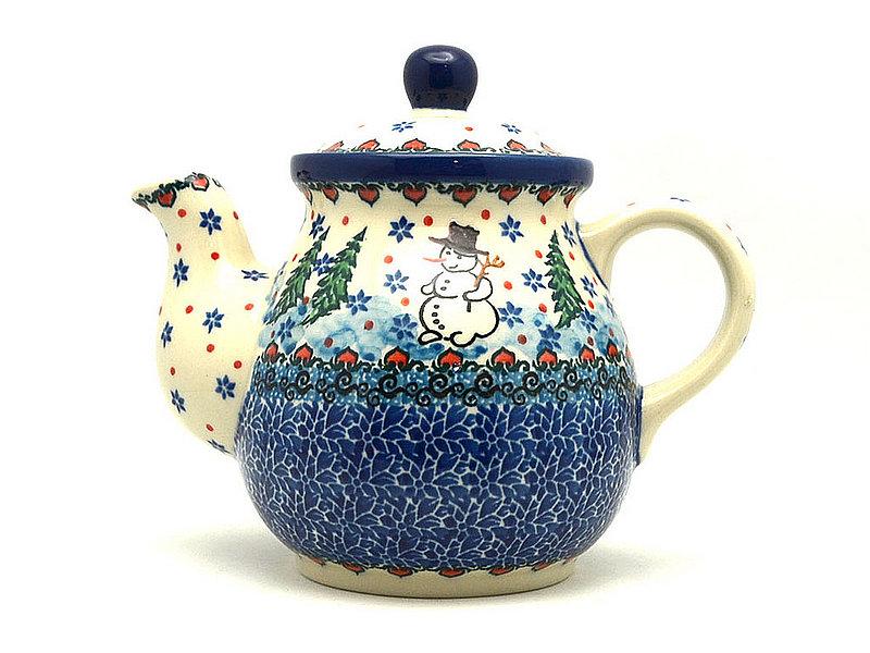 Ceramika Artystyczna Polish Pottery Gooseneck Teapot - 20 oz. - Unikat Signature - U4661 119-U4661 (Ceramika Artystyczna)