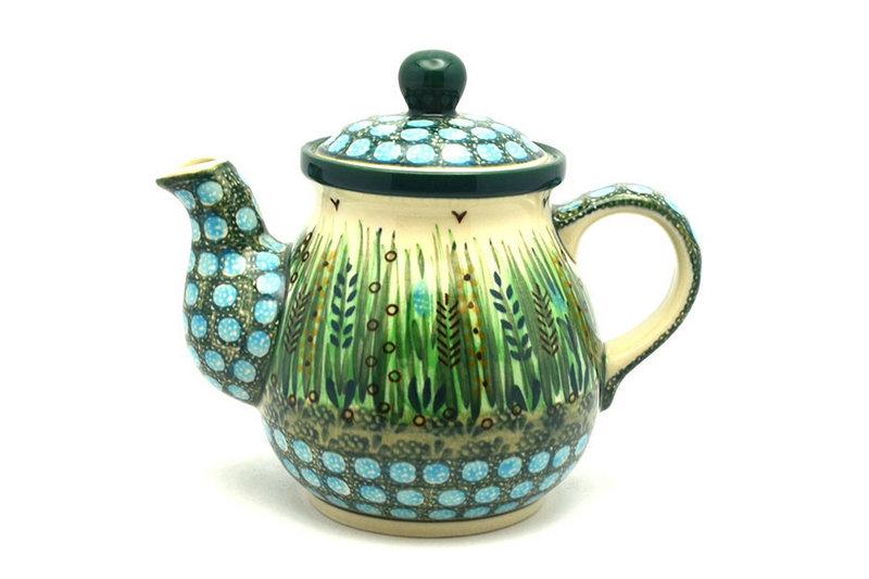 Ceramika Artystyczna Polish Pottery Gooseneck Teapot - 20 oz. - Unikat Signature - U803 119-U0803 (Ceramika Artystyczna)